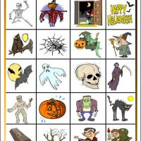 Printable Halloween Bingo Tiles - Printable Bingo - Free Printable Games