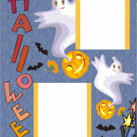 Printable Halloween Cover Layout - Printable Scrapbook - Free Printable Crafts