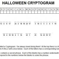 Printable Halloween Cryptogram - Printable Brain Teasers - Free Printable Games