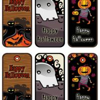 Printable Halloween Gift Tags Set 1 - Printable Gift Cards - Free Printable Cards