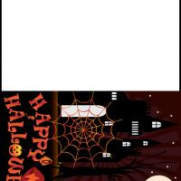 Printable Halloween in a Haunted Mansion - Printable Greeting Cards - Free Printable Cards