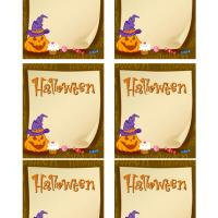 Printable Halloween Jack-O-Lantern and Treats - Printable Gift Cards - Free Printable Cards