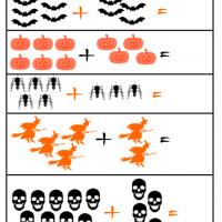 Printable Halloween Math Addition - Free Printable Math Worksheets - Free Printable Worksheets