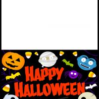Printable Halloween Monsters Card - Printable Greeting Cards - Free Printable Cards