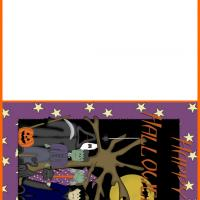 Printable Halloween Monsters Greeting - Printable Greeting Cards - Free Printable Cards