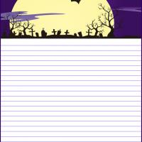 Printable Halloween Night at the Graveyard - Printable Stationary - Free Printable Activities