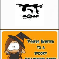 Printable Halloween Party Girl - Printable Party Invitation Cards - Free Printable Invitations
