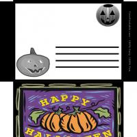Printable Halloween Pumpkin Envelope - Printable Card Maker - Free Printable Cards