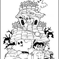 Printable Halloween Scene - Printable Coloring Sheets - Free Printable Coloring Pages