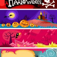 Printable Halloween Set of Four Bookmarks - Printable Bookmarks - Free Printable Crafts