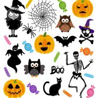 Printable Halloween Stickers - Printable Scrapbook - Free Printable Crafts