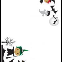 Printable Halloween Witches Stationary - Printable Stationary - Free Printable Activities