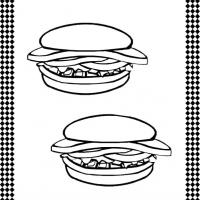 Printable Hamburgers Flash Card - Printable Flash Cards - Free Printable Lessons