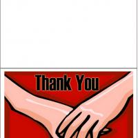 Printable Hand In Hand - Printable Thank You Cards - Free Printable Cards