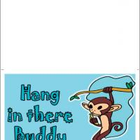 Printable Hanging Monkey - Printable Get Well Cards - Free Printable Cards