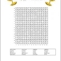 Printable Hannukah Word Search - Printable Word Search - Free Printable Games