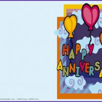 Printable Happy Anniversary - Printable Greeting Cards - Free Printable Cards