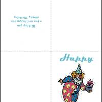 Printable Happy Birthday Clown - Printable Birthday Cards - Free Printable Cards