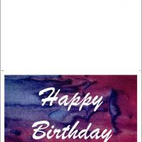 Happy Birthday Colored Card