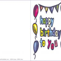 Printable Happy Birthday To You - Printable Birthday Cards - Free Printable Cards