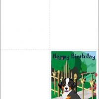 Happy Dog Birthday Card