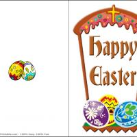 Printable Happy Easter Arch - Printable Easter Cards - Free Printable Cards