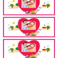 Printable Happy Family Bookmarks - Printable Bookmarks - Free Printable Crafts