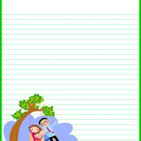 Printable Happy Family on a Swing Stationary - Printable Stationary - Free Printable Activities