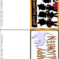Printable Happy Halloween House Gift Cards - Printable Gift Cards - Free Printable Cards