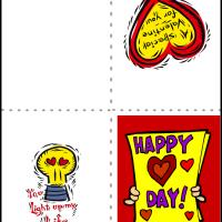 Printable Happy Hearts Day - Printable Valentines - Free Printable Cards