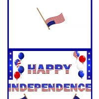 Printable Happy Independence Day Balloons and Flags - Printable Greeting Cards - Free Printable Cards