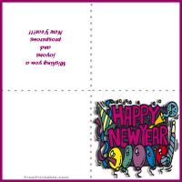 Printable New Year Balloons Card - Printable Greeting Cards - Free Printable Cards