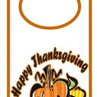 Printable Happy Thanksgiving Door Hanger - Printable Fun - Free Printable Activities