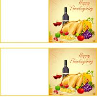 Printable Happy Thanksgiving Feast Gift Cards - Printable Gift Cards - Free Printable Cards