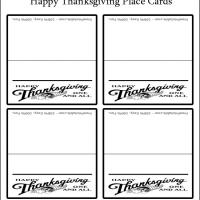 Printable Happy Thanksgiving Place Cards - Printable Place Cards - Free Printable Cards