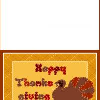 Printable Happy Thanksgiving Turkey - Printable Greeting Cards - Free Printable Cards