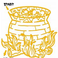 Printable Hard Cauldron In Fire Maze - Printable Mazes - Free Printable Games