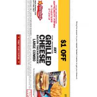 Hardee's $1 Off Grilled Cheese Bacon Thickburger