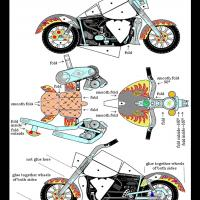 Harley Davidson Bike Paper Toy