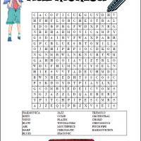 Printable Harmonica Word Search - Printable Word Search - Free Printable Games