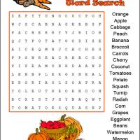 Harvest Fruit & Vegetables Word Search