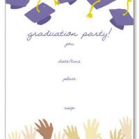 Printable Hats Off Blank Card Invitation - Printable Graduation Invitations - Free Printable Invitations