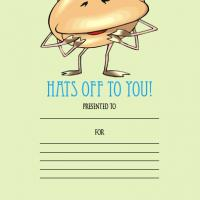 Printable Hats Off To You - Printable Awards - Misc Printables