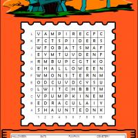 Printable Haunted Halloween Word Search - Printable Word Search - Free Printable Games