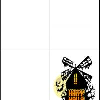 Printable Haunted Windmill - Printable Greeting Cards - Free Printable Cards
