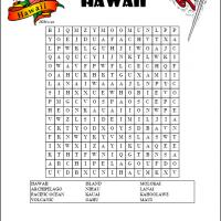 Printable Hawaii Word Search - Printable Word Search - Free Printable Games