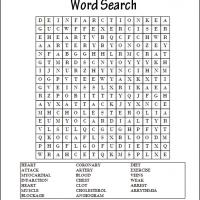 Printable Heart Attacks Word Search - Printable Word Search - Free Printable Games