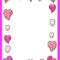 Heart Bordered Stationary