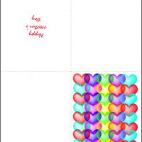 Printable Heart Bubbles - Printable Mothers Day Cards - Free Printable Cards