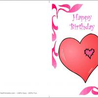 Printable Heart Patches - Printable Birthday Cards - Free Printable Cards